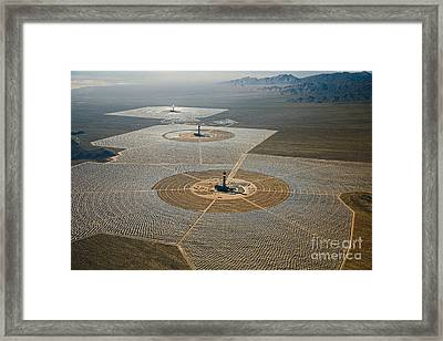 Ivanpah Solar Power Plant Framed Print