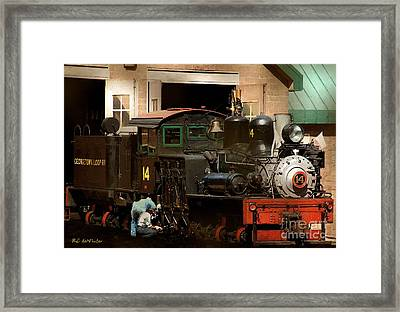 I've Been Working On The Railroad Framed Print by RC DeWinter