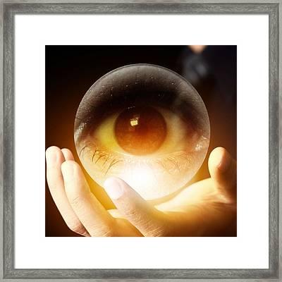 I've Got My Eye On You Framed Print by Anita Hiltz