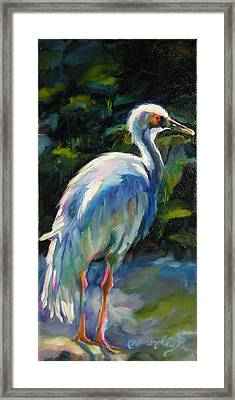 Framed Print featuring the painting I've Got My Eye On You by Chris Brandley