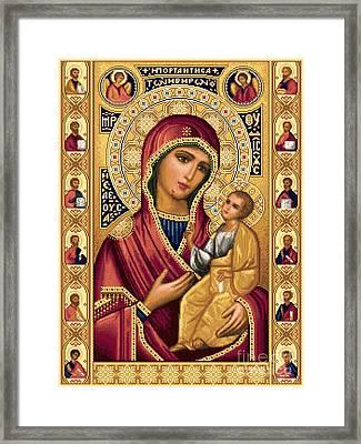 Iveron Theotokos Framed Print by Stoyanka Ivanova