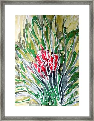 Ivine Flowers Framed Print by Baljit Chadha