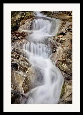 Rushing Water Framed Prints