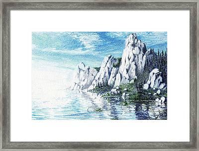 Ivory Cliffs Framed Print by Nils Bifano
