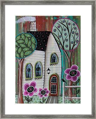 Ivory Cottage Framed Print