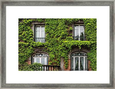 Ivy Covered House In Montmartre Paris Framed Print by Georgia Fowler