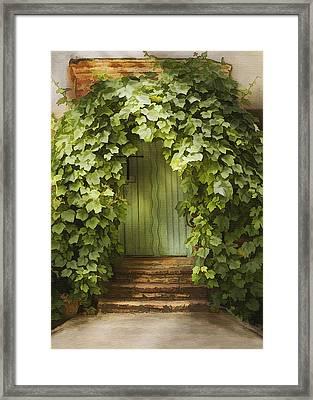 Ivy Door Framed Print