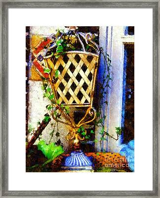 Ivy French Country White Framed Print by Janine Riley