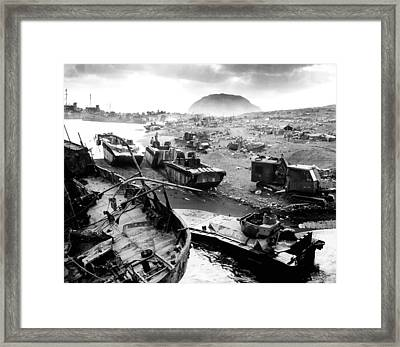Iwo Jima Beach Framed Print