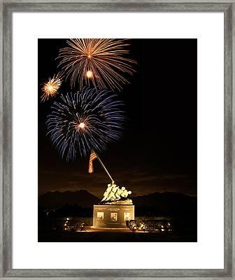 Iwo Jima Flag Raising Framed Print