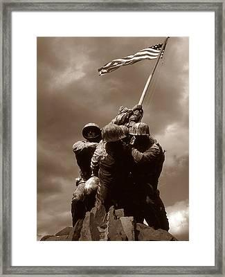 Iwo Jima War Memorial Washington Framed Print