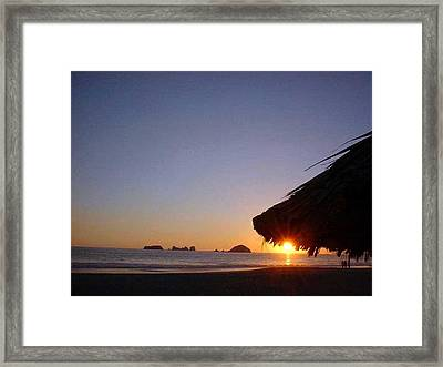 Ixtapa Sunset Framed Print by Jack G  Brauer