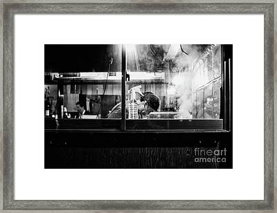 Framed Print featuring the photograph Izakaya Steam by Dean Harte