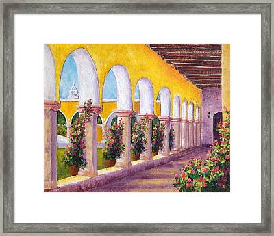 Izamal Arches Framed Print by Candy Mayer