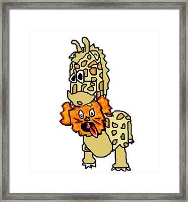 Izzy As Giraffe Framed Print