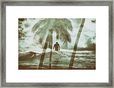 Izzy Jive And Palms Framed Print