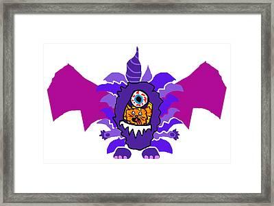 Izzy Purple People Eater Costume Framed Print