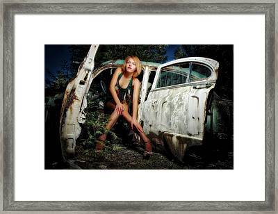 Izzy's Buick Framed Print by Jerry Golab