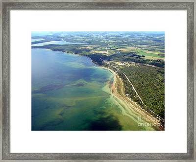 J-001 Jacksonport Wisconsin Hwy 57 South Framed Print by Bill Lang