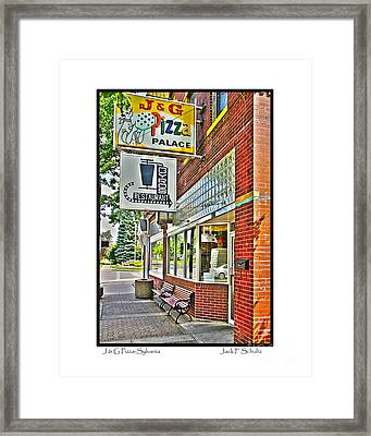 J And G Pizza Palace Framed Print
