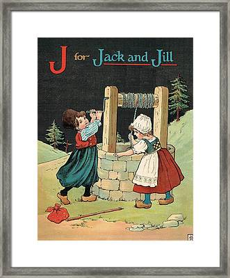 J For Jack And Jill Framed Print by Reynold Jay