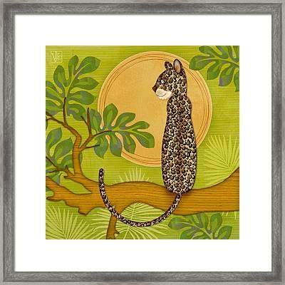 J Is For Jaguar Framed Print by Valerie Drake Lesiak