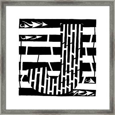J Maze Framed Print by Yonatan Frimer Maze Artist