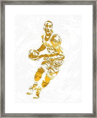 J R Smith Cleveland Cavaliers Pixel Art Framed Print