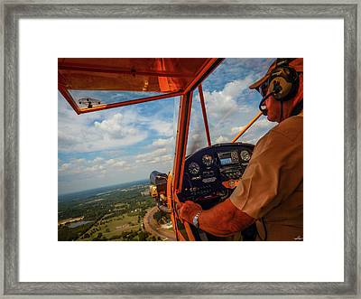 J3 Cub, The Bare Essentials Framed Print by Phil Rispin
