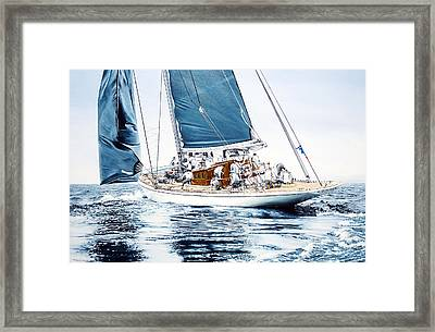 J5 Ranger J Class Yacht Framed Print