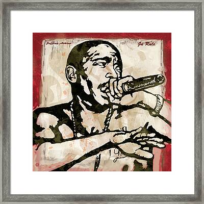 Ja Rule Pop Stylised Art Sketch Poster Framed Print
