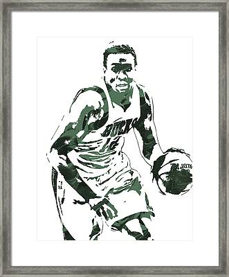 Jabari Parker Milwaukee Bucks Pixel Art 3 Framed Print
