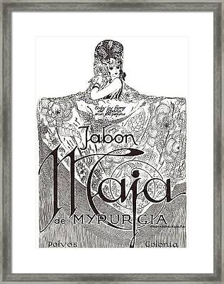 Framed Print featuring the digital art Jabon by ReInVintaged