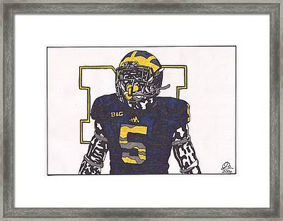 Jabril Peppers Framed Print