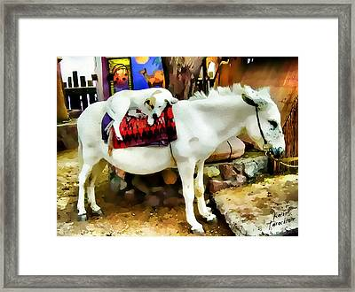 Jack And Jill Framed Print by Kathy Tarochione
