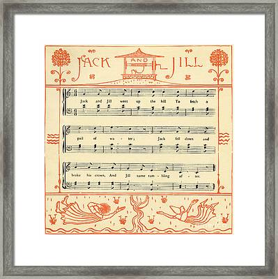Jack And Jill Nursery Rhyme Score Framed Print