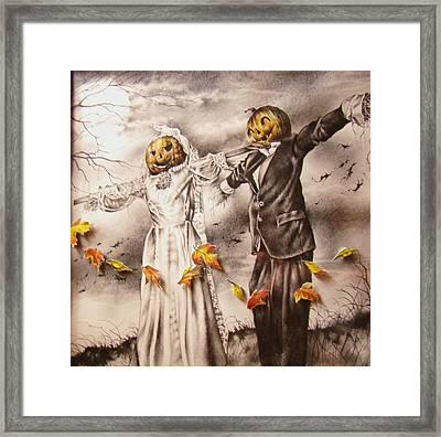 Jack And Sally Framed Print