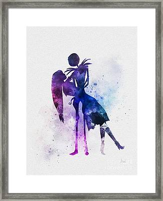 Jack And Sally Framed Print