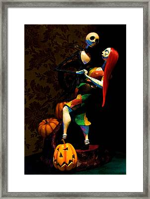 Jack And Sally Framed Print by Thanh Thuy Nguyen