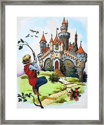 Jack And The Beanstalk Framed Print by English School