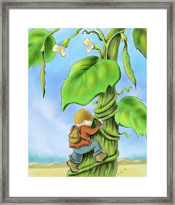 Jack And The Beanstalk Framed Print by Hank Nunes
