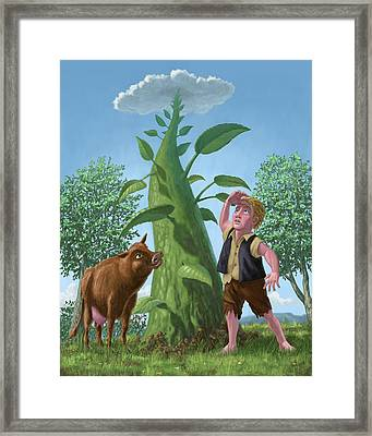 Jack And The Beanstalk Framed Print by Martin Davey