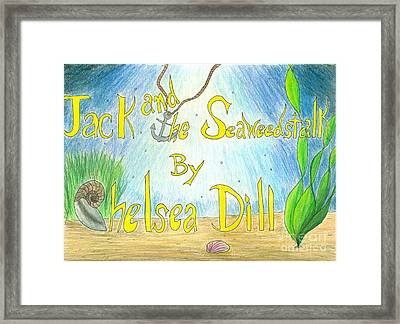Jack And The Seaweestalk Book Cover Framed Print by CE Dill