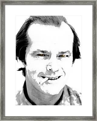 Jack B N W  Framed Print