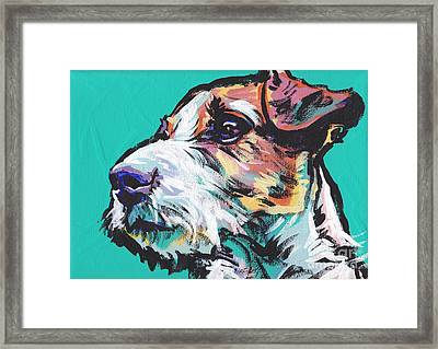 Jack Be Nimble  Jack Russell Terrier Framed Print by Lea S