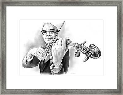 Jack Benny Framed Print by Greg Joens