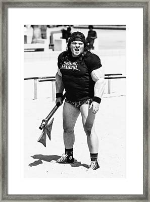 Framed Print featuring the photograph Jack Black by Ron Dubin