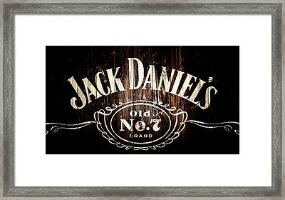 Jack Daniel's Barn Door Framed Print by Dan Sproul