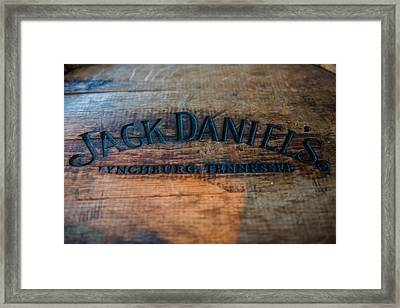 Jack Daniels Oak Barrel Framed Print