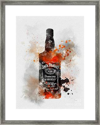 Jack Daniels Framed Print by Rebecca Jenkins